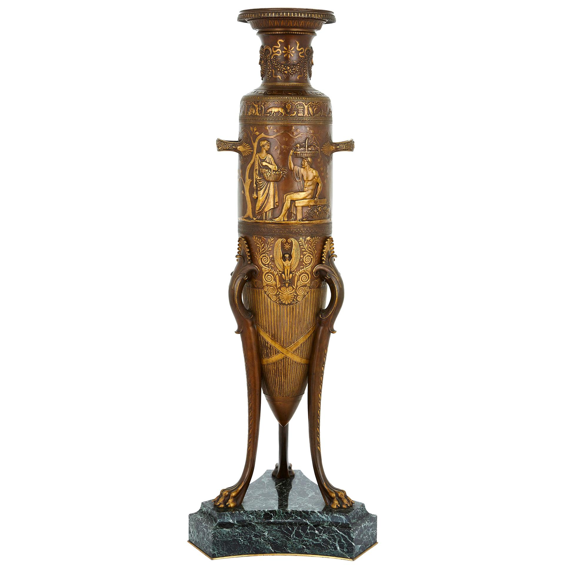 19th Century French Neoclassical Style Bronze Vase by Levillain and Barbedienne