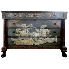 19th Century French Neoclassical Style Painted Commode