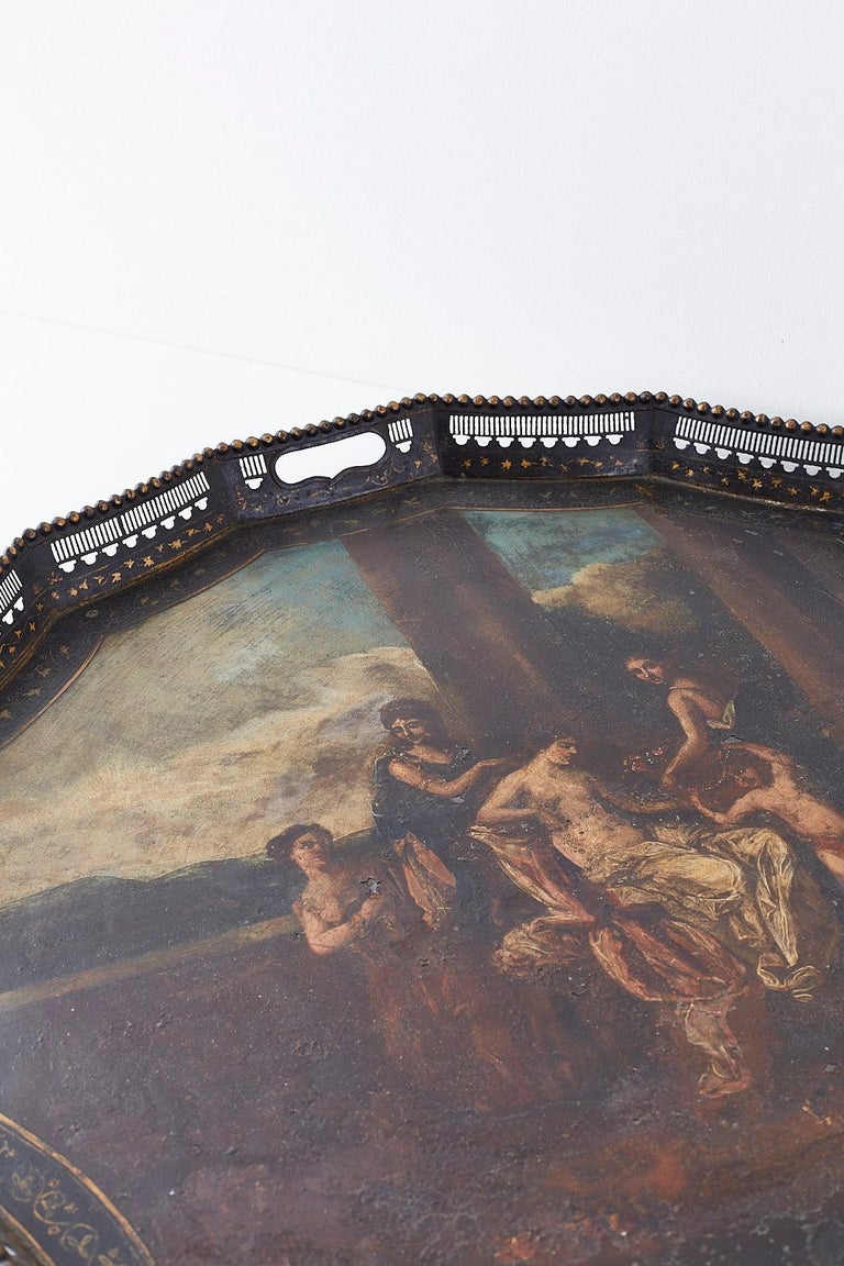 19th Century French Neoclassical Style Tole Tray For Sale 12