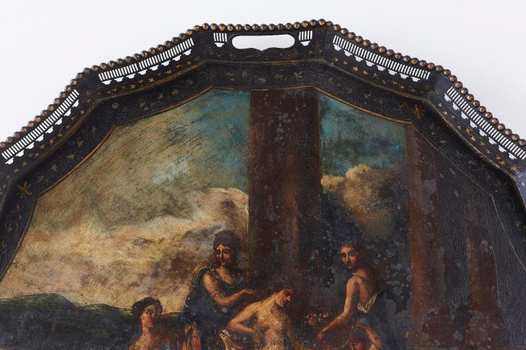 19th Century French Neoclassical Style Tole Tray For Sale 1