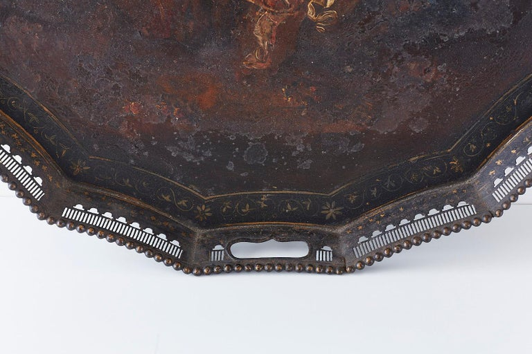19th Century French Neoclassical Style Tole Tray For Sale 2
