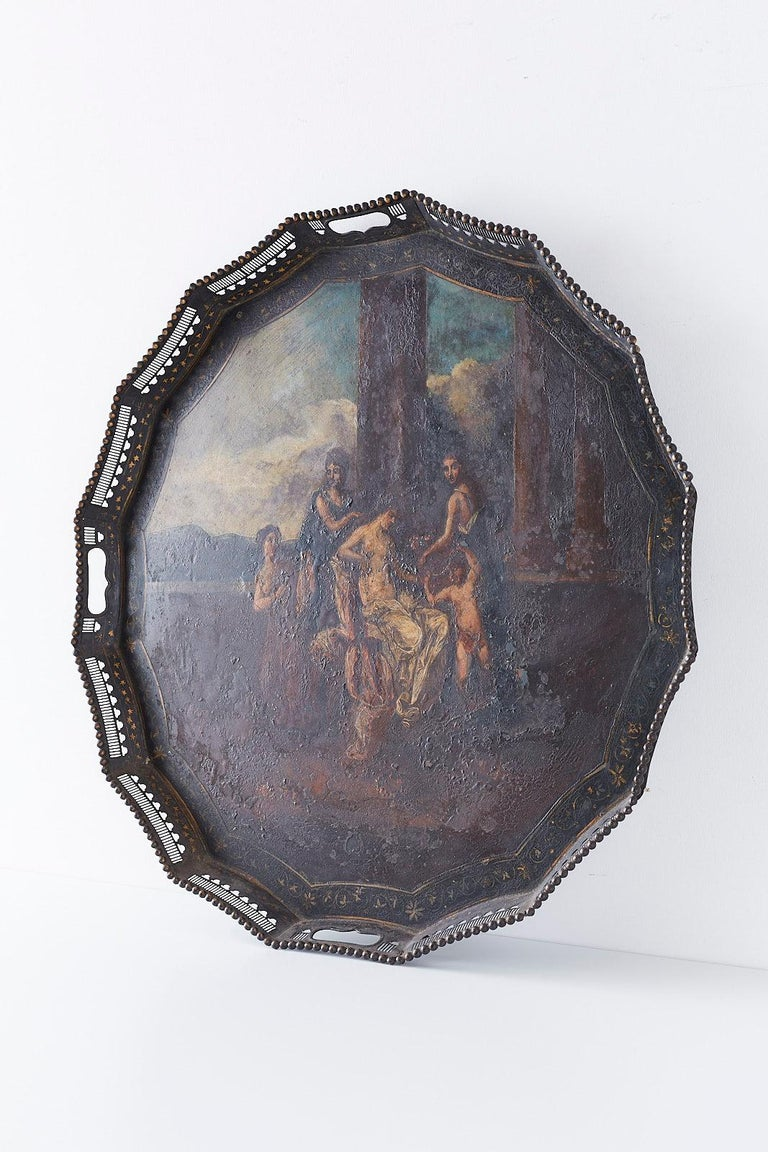 19th Century French Neoclassical Style Tole Tray For Sale 4