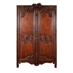 19th Century French Oak Armoire from Normandy