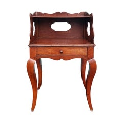 19th Century French Oak Side Table with Drawer