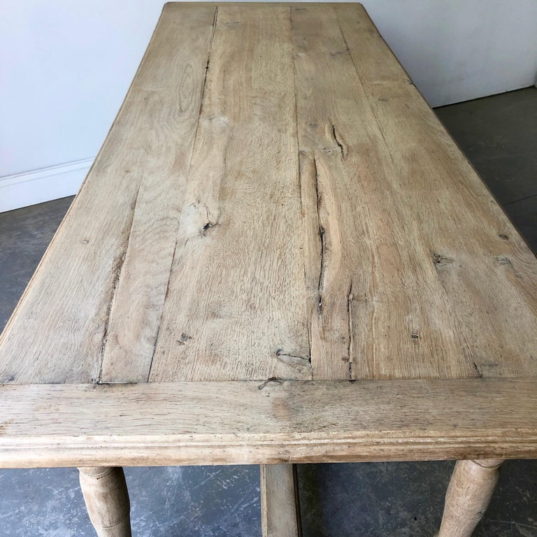 Hand-Crafted 19th Century French Oak Table