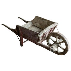 19th Century French Oak Wheelbarrow