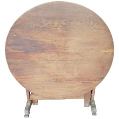 19th Century French Oak Wine Table from the Picardy Region