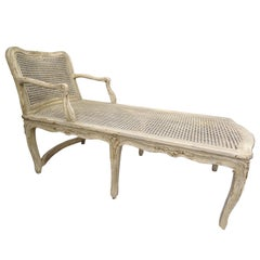 19th Century French Off White Wood Duquesse or Chaise Lounge