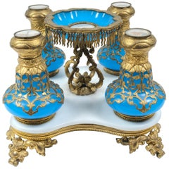 19th Century French Opaline Perfume Bottle Set