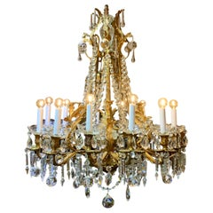 19th century French ormolu and crystal Marie Antoinette chandelier