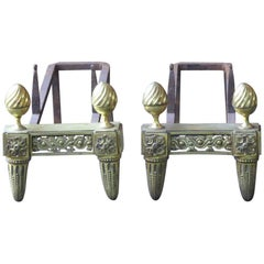 19th Century French Ormolu Andirons or Firedogs