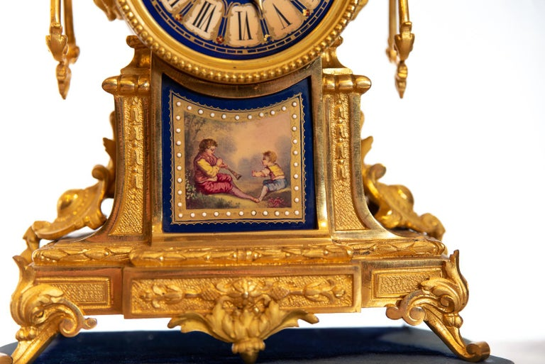 19th Century French Ormolu Clock In Good Condition For Sale In Cheltenham, GB