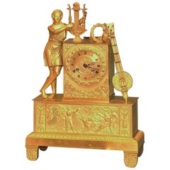 19th Century French Ormolu Clock with Orpheus
