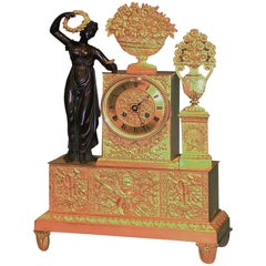 19th Century French Ormolu Eight Day Striking Clock