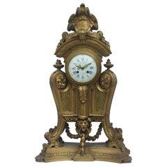 19th Century French Ormolu Louis XIV Impressive Clock by Maison Marnyhac