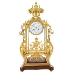 19th Century French Ormolu Mantel Clock or 'Pendule À Cage' by Thiebaut Freres