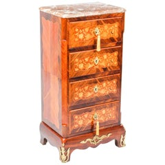 19th Century French Ormolu Mounted Marquetry Secretaire Chest