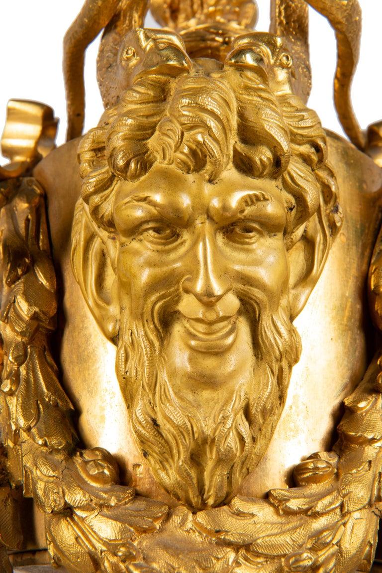 19th Century French Ormolu Urn Shape Mantel Clock For Sale 5