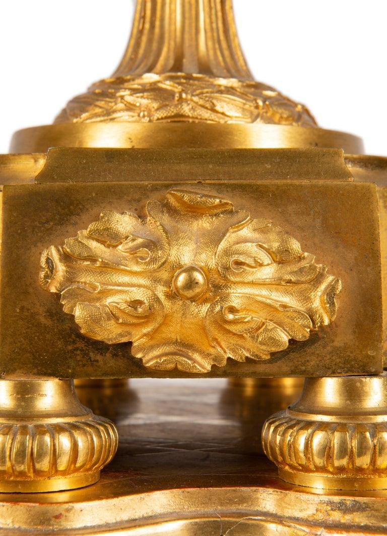 19th Century French Ormolu Urn Shape Mantel Clock For Sale 7