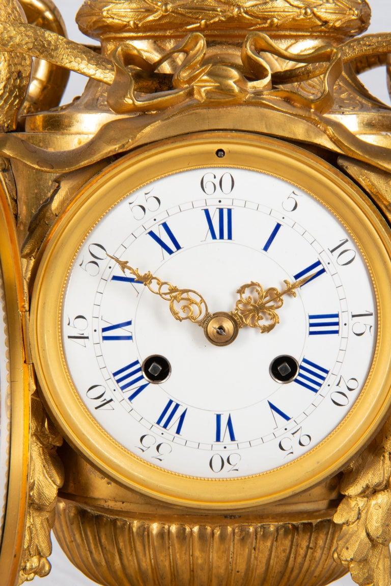 19th Century French Ormolu Urn Shape Mantel Clock For Sale 1