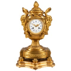 19th Century French Ormolu Urn Shape Mantel Clock