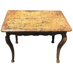19th Century French Paint Decorated Table