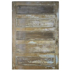 19th Century French Painted Barn Door