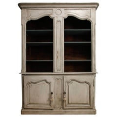 19th Century French Painted Bibliotheque