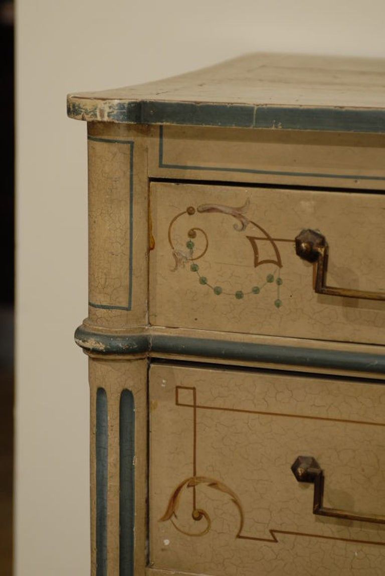 19th Century French Painted Commode Louis XVI Style 1