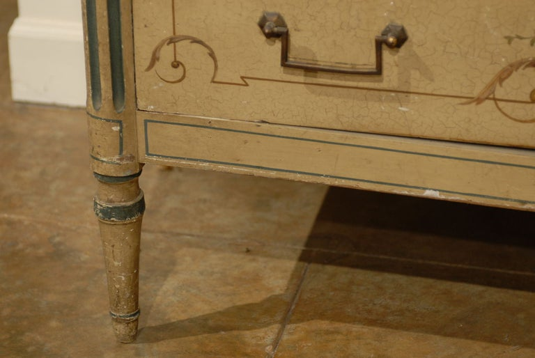 19th Century French Painted Commode Louis XVI Style 2
