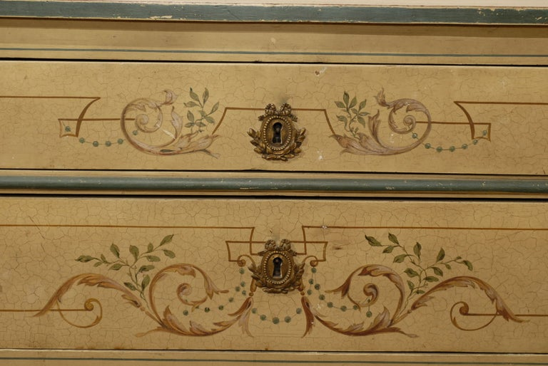 19th Century French Painted Commode Louis XVI Style 3