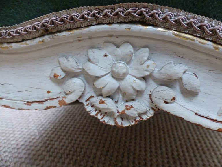 Late 19th Century 19th Century French Painted Louis XV Style Sofa