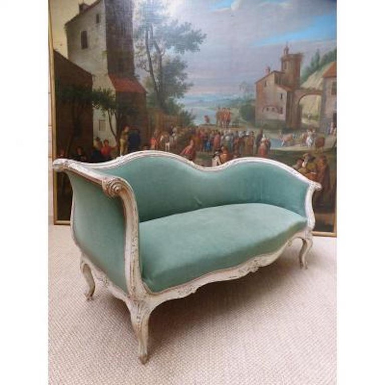 19th Century French Painted Louis XV Style Sofa 2