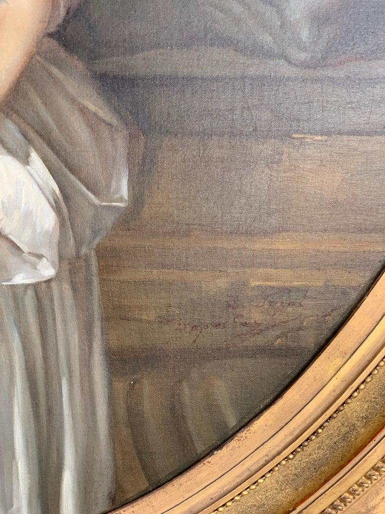 19th Century French Painting D'après Jean-Baptiste Greuze, the Broken Pitcher For Sale 7