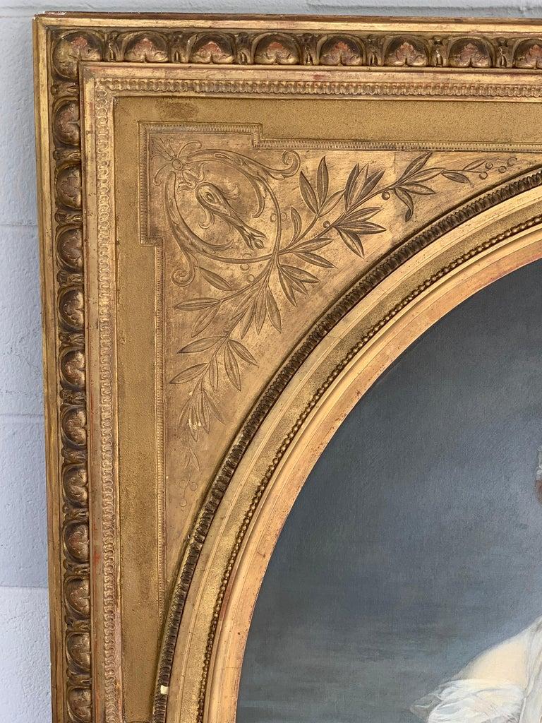 19th Century French Painting D'après Jean-Baptiste Greuze, the Broken Pitcher For Sale 8