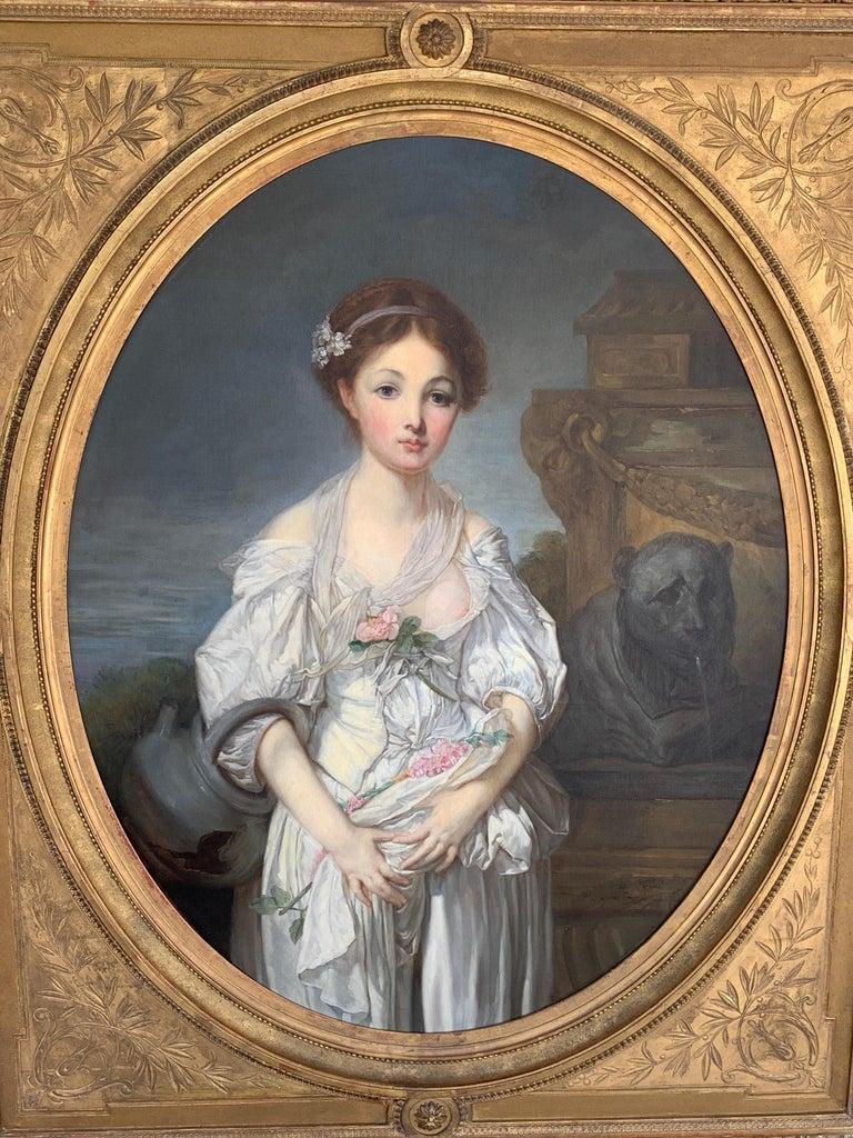 19th Century French Painting D'après Jean-Baptiste Greuze, the Broken Pitcher For Sale 9