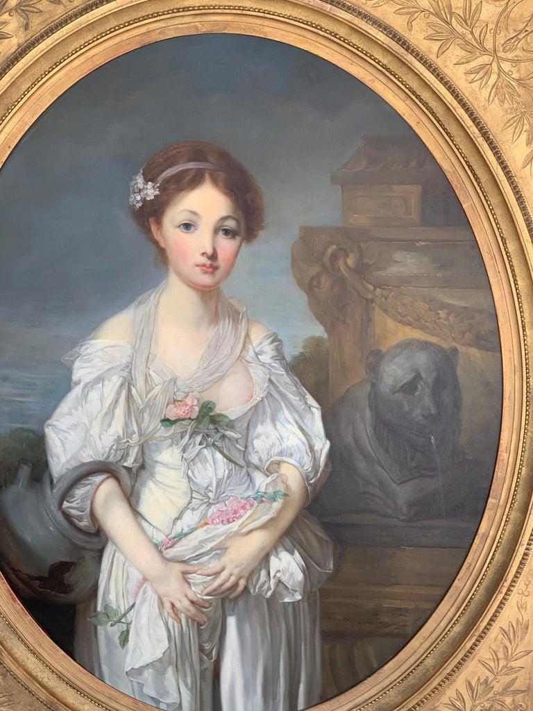 19th Century French Painting D'après Jean-Baptiste Greuze, the Broken Pitcher For Sale 10