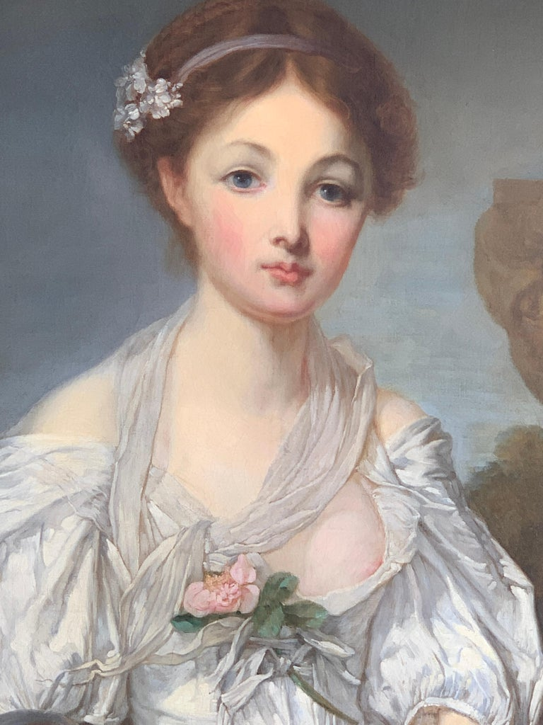 19th Century French Painting D'après Jean-Baptiste Greuze, the Broken Pitcher For Sale 1