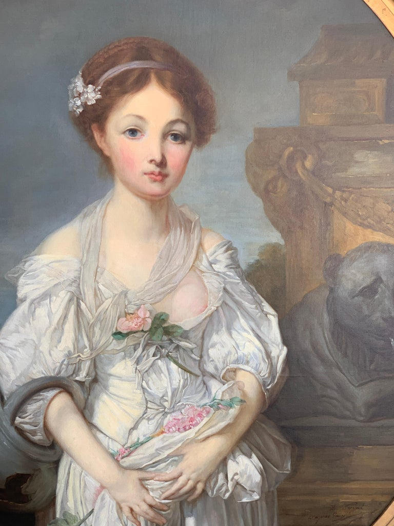 19th Century French Painting D'après Jean-Baptiste Greuze, the Broken Pitcher For Sale 2