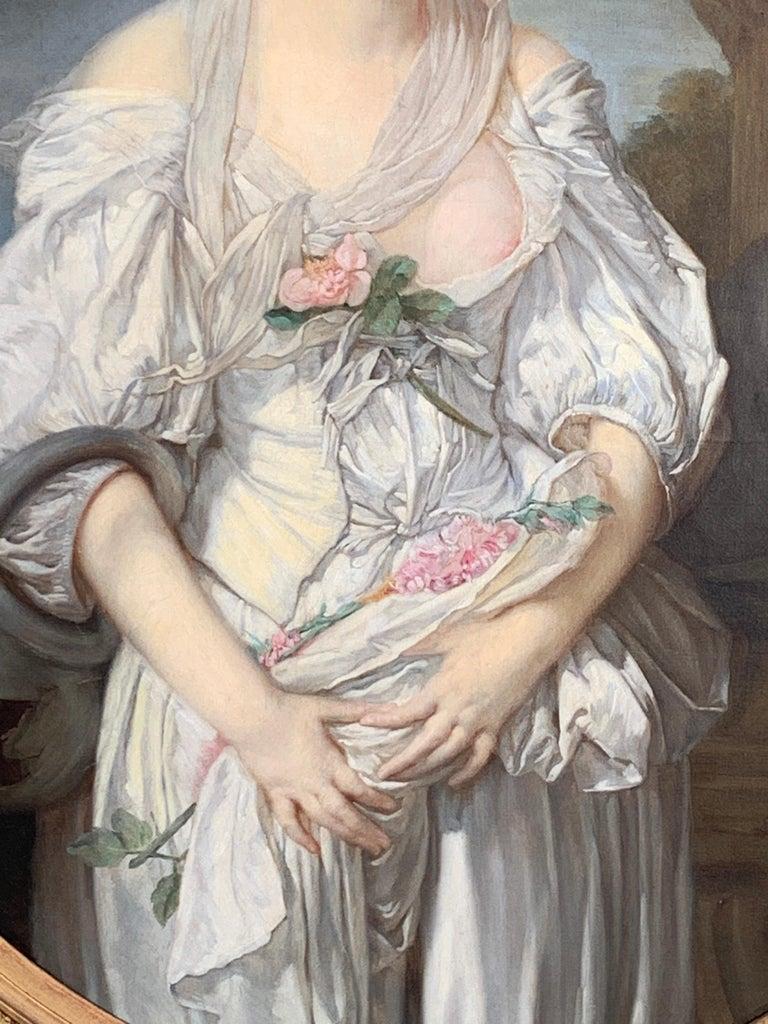 19th Century French Painting D'après Jean-Baptiste Greuze, the Broken Pitcher For Sale 3