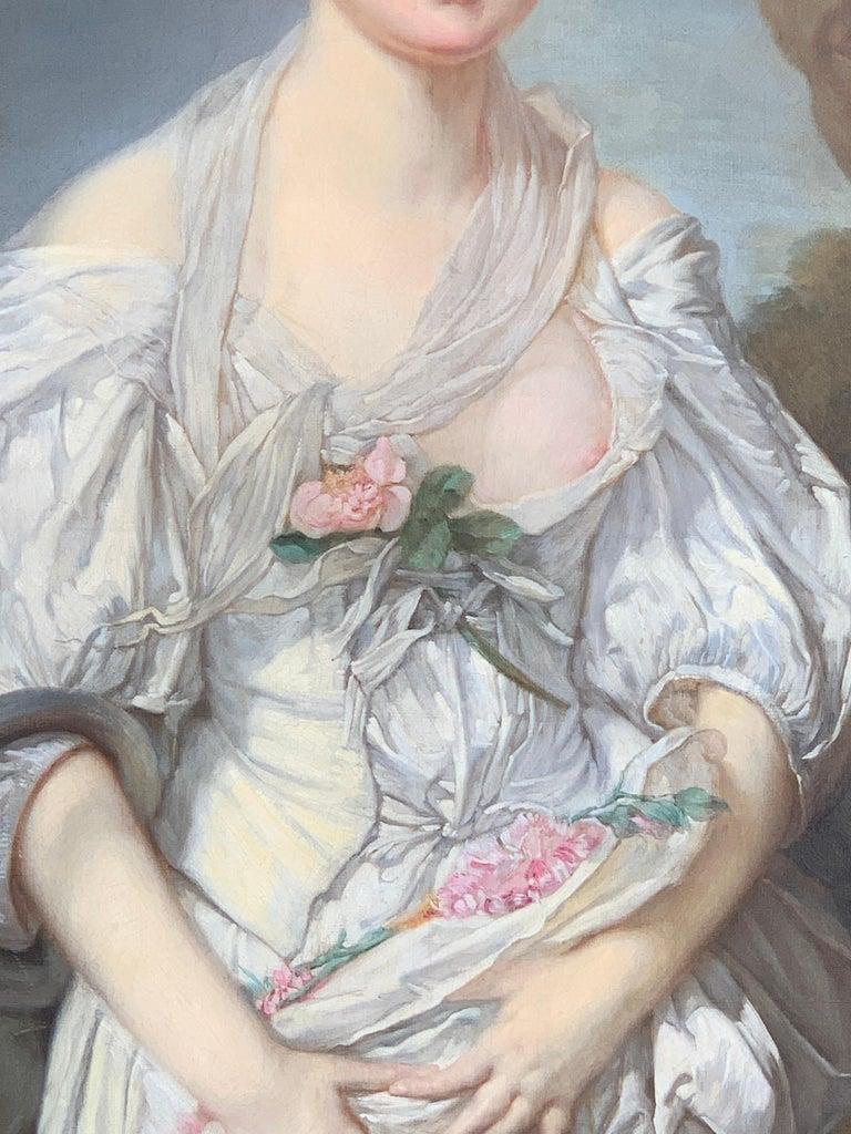19th Century French Painting D'après Jean-Baptiste Greuze, the Broken Pitcher For Sale 4