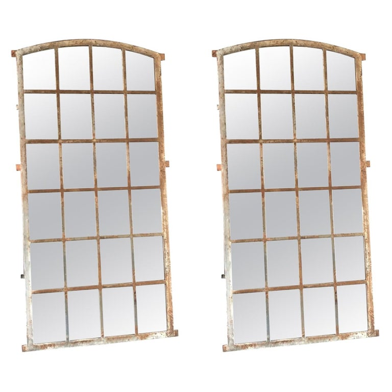 19th Century French Pair of Metal Giverny Wall Mirrors For Sale