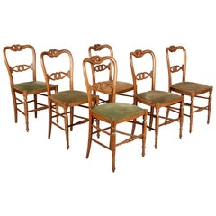 19th Century French Parlor Chairs, Set of Six