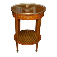 19th Century French Parquetry Side Table