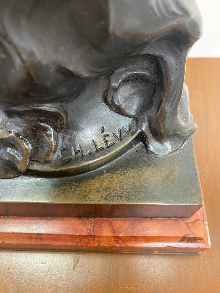 19th Century French Patinated Bronze Statue For Sale 7