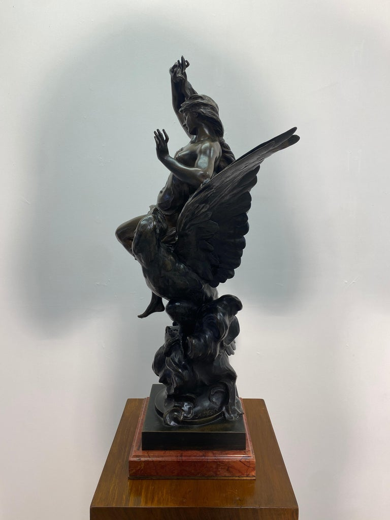 19th Century French Patinated Bronze Statue For Sale 8
