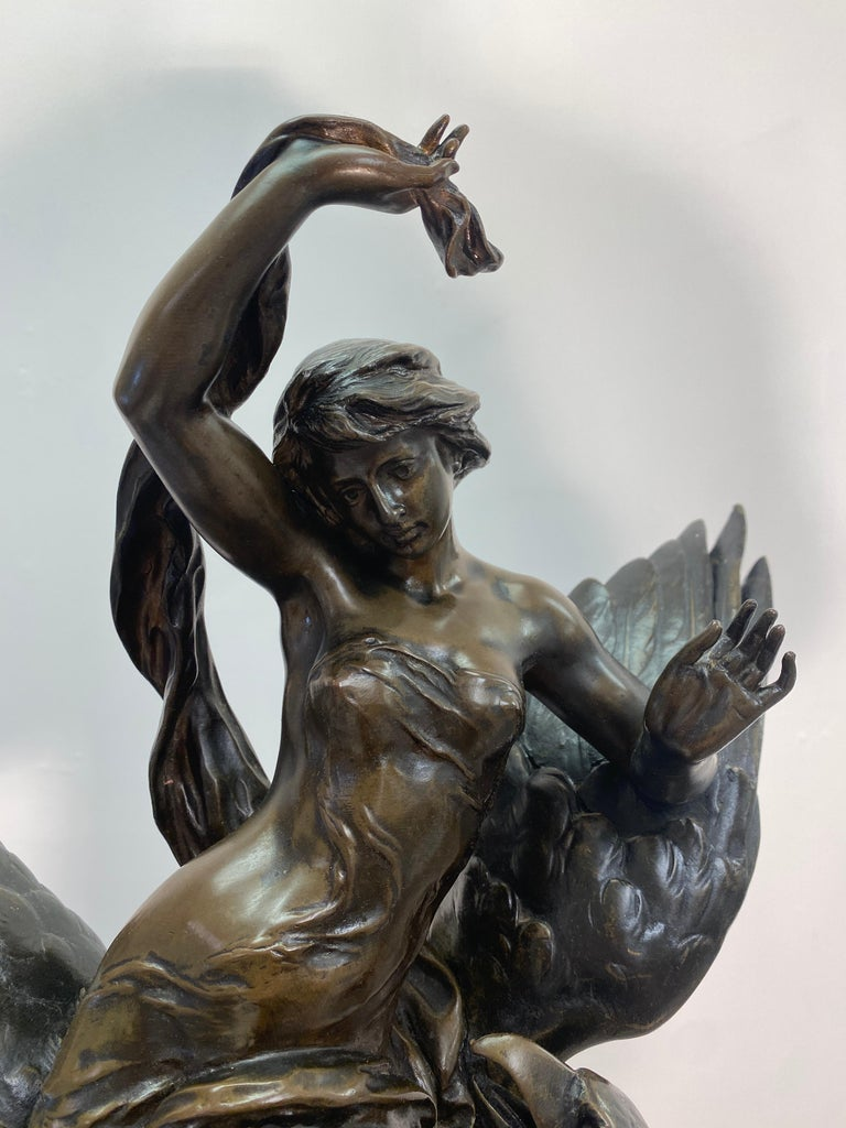 19th Century French Patinated Bronze Statue For Sale 10