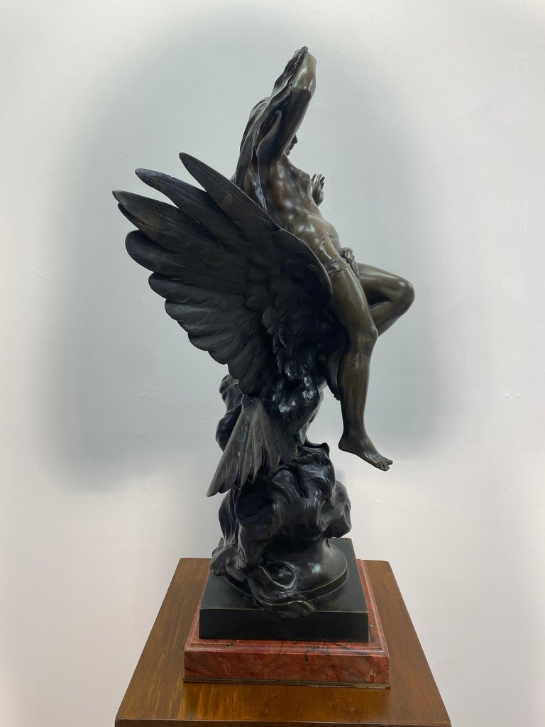Forged 19th Century French Patinated Bronze Statue For Sale