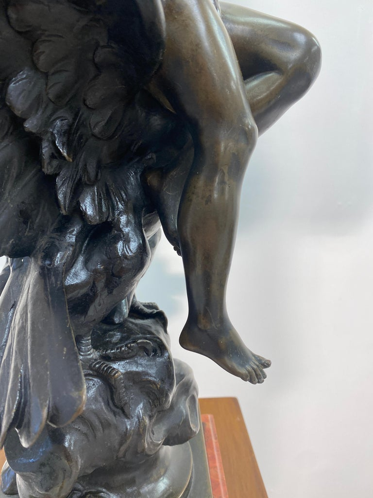 19th Century French Patinated Bronze Statue In Good Condition For Sale In La Plata, MD
