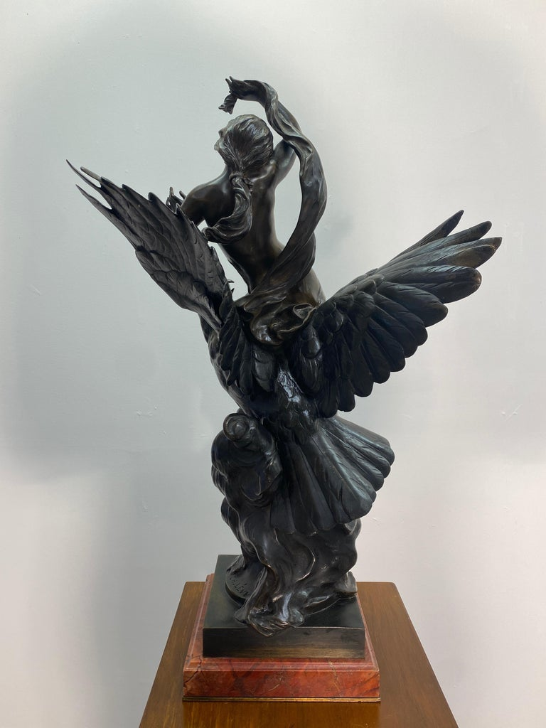 19th Century French Patinated Bronze Statue For Sale 3